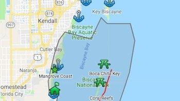 Biscayne Bay Park Map