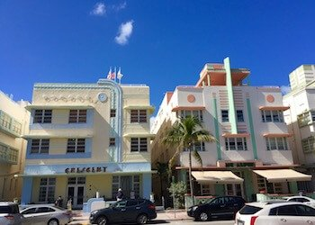 Art Deco District Buildings: Ocean Drive