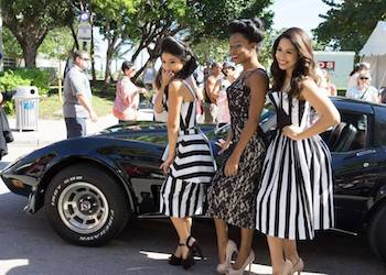 Art Deco Weekend Retro Fashion Show on Ocean Drive