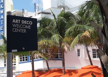 Miami Art Deco Welcome Center on 10th Street and Ocean Drive