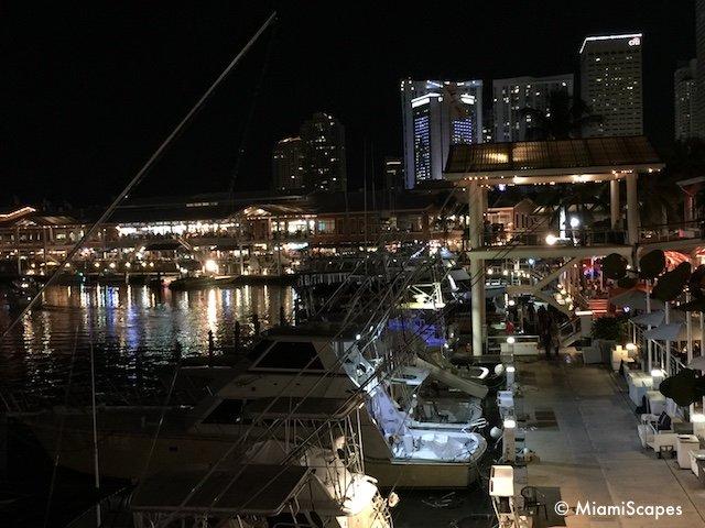 Bayside Marina at night