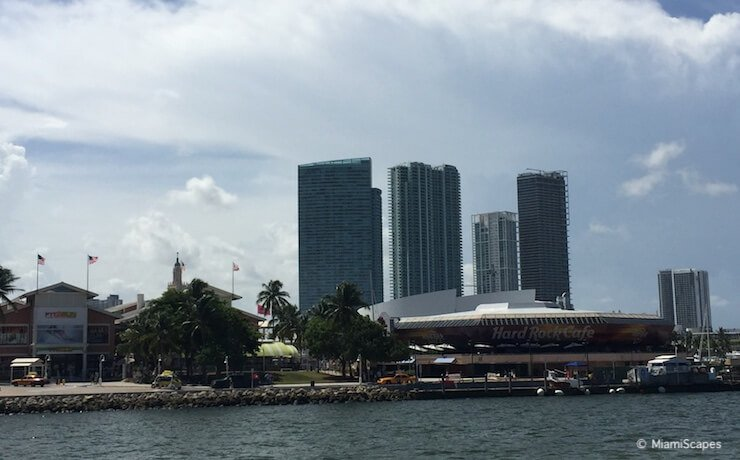From Biscayne Bay Cruise: Bayside Marketplace Marina and Hard Rock Cafe