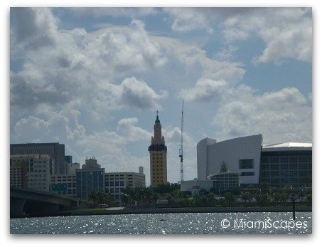 From Biscayne Bay Cruise: Freedom Tower and AA Arena