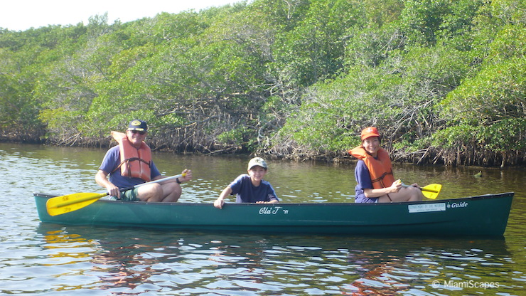 Canoeing in Biscayne National Park