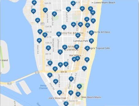 Citibike Miami Stations Map
