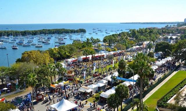 Aerial View of Coconut Grove Arts Festival Grounds