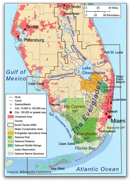 Everglades Facts: Map and Geography of the Everglades