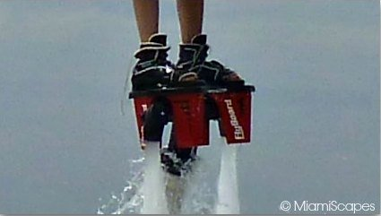 Flyboard strap to your feet with boots