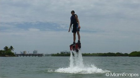 Flyboarding beginner session: off the water