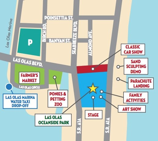 Ft Lauderdale Great American Beach Party Event Map