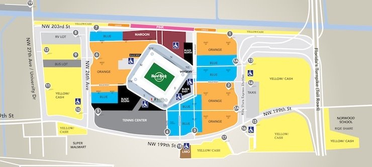 Hard Rock Stadium Parking Map