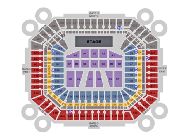 Hard Rock Stadium seating chart for Miami Open