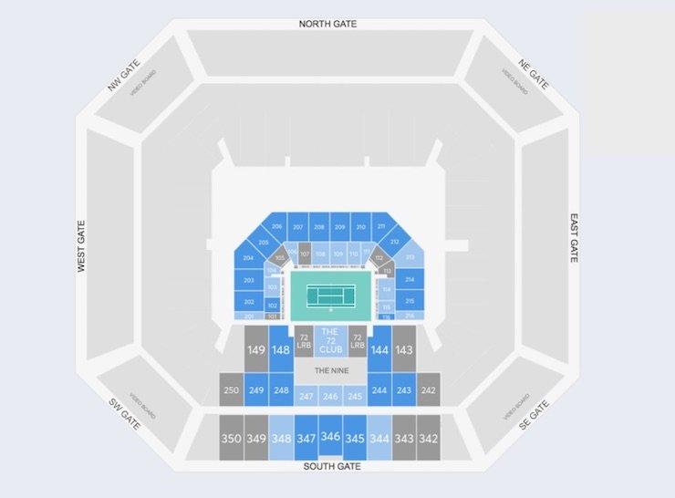 Hard Rock Stadium seating chart for Stadium Court