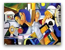 Painting at the Key Biscayne Art Festival