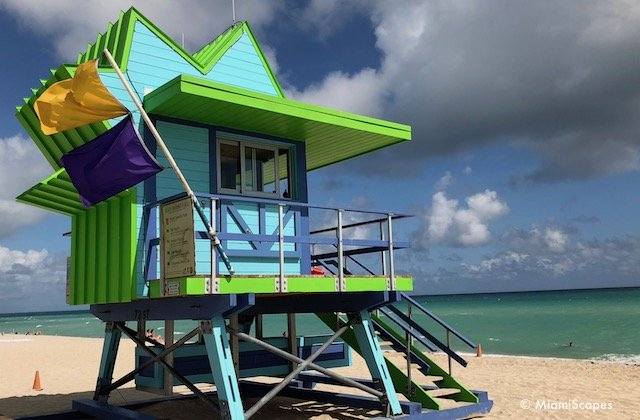 Miami Art Deco Lifeguard Tower on 72nd Street