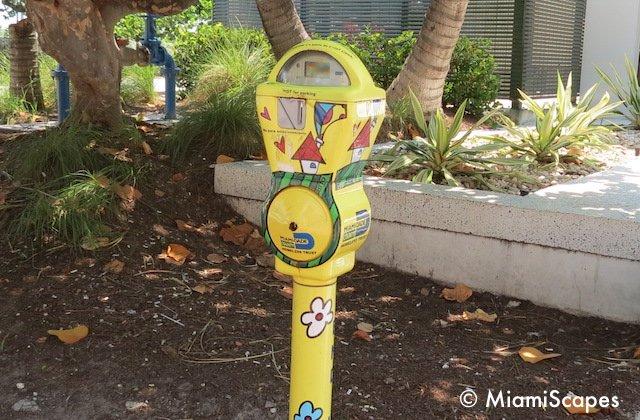 Miami Art Deco Tropical Parking Meters