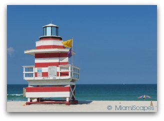 Miami Beaches: Beach at South Pointe and the Jetty Lifeguard Tower