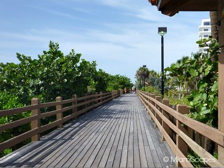 Miami Beach Boardwalk runs from 24th to 46th Streets