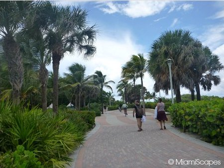 Miami Beach Walk Paver Walkway between 14th and 24th Streets