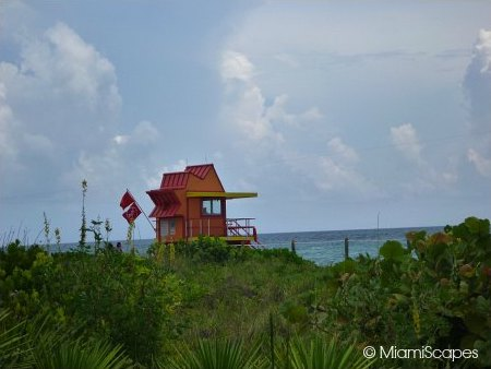 Lifeguard Tower at 23rd Street Views from Miami Beach Walk