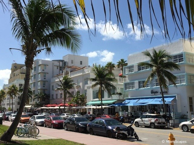 Ocean Drive in the daytime