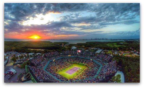 Aerial View of the Miami Open