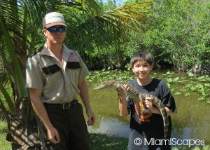Kid with alligator