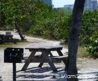 Oleta facilities: picnic tables and barbeque areas