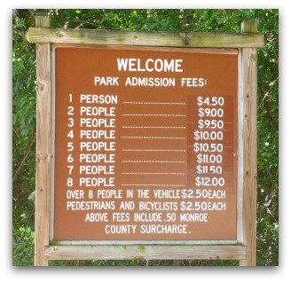 State Park Admission Rates Sign