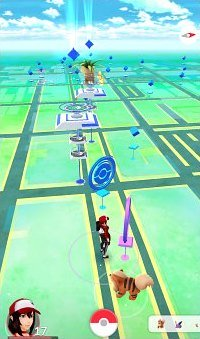Tons of Pokestops and Gyms for battling at Lincoln Road Mall