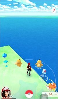 Lots of water type Pokemon spawn at Port of Miami