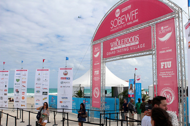 Grand Tasting Village at the SoBe Food and Wine Fest