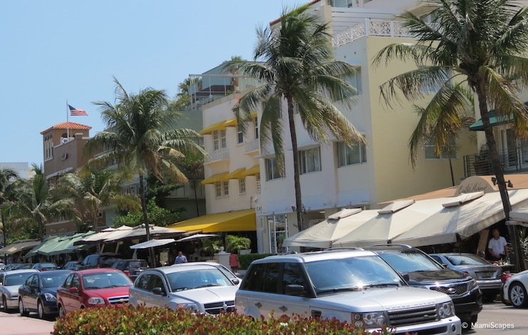 South Beach Ocean Drive Parking on the Street
