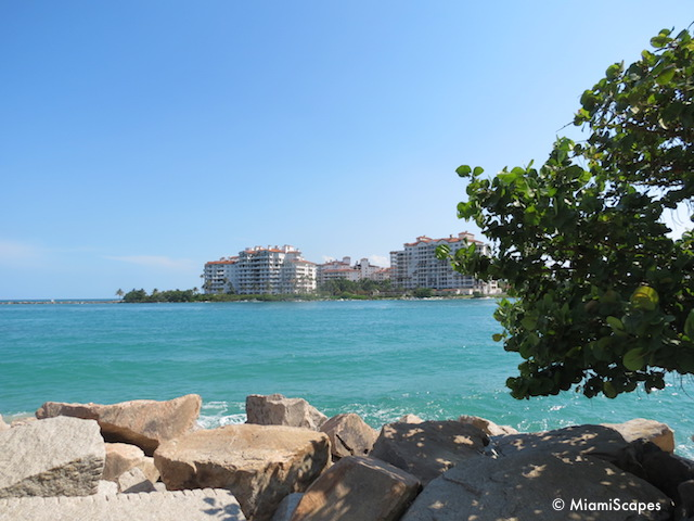 View of Fisher Island from South Pointe Park