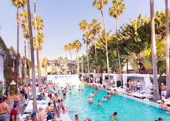The Delano Beach Club during Spring Break