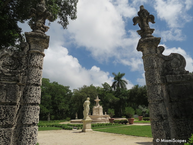 Vizcaya Gardens Fountains and Statues