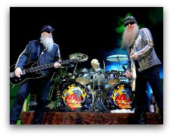 ZZ Top in Miami in March 2017